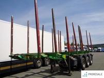 UMIKOV NPK 39T - klanicový roztažitelný návěs pro přepravu dřeva